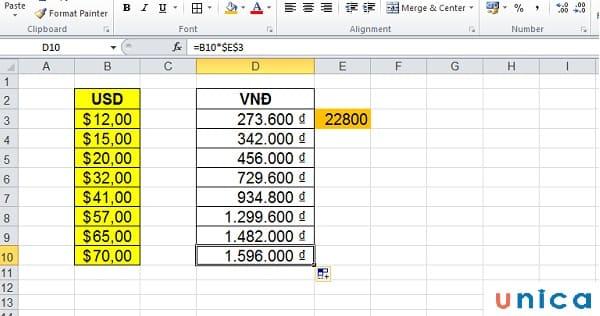 Quy đổi USD sang VND 2