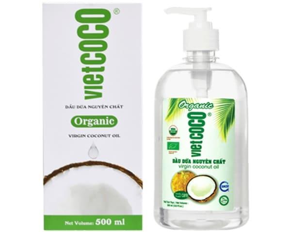 VIETCOCO Dầu Dừa Nguyên Chất Organic Mỹ Phẩm 500ml