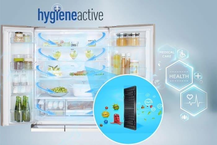 Tủ lạnh Side by Side kháng khuẩn khử mùi, bảo vệ sức khỏe.