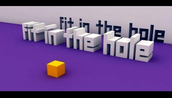 """Fit in the hole có lối chơi như chương trình """"Người đi xuyên tường"""""""
