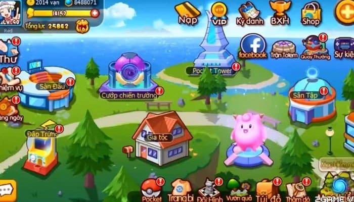 Vua Pocket 3D sở hữu đồ họa nhiều màu sắc