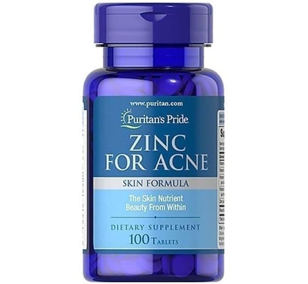 Purita's Pride Viên Uống Kẽm Trị Mụn Premium Zinc For Acne