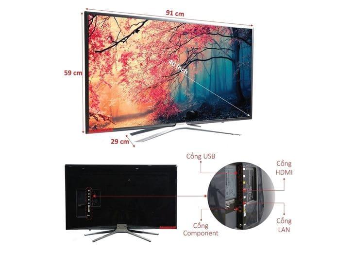 Tivi thông minh Samsung UA40K5520AKXXV cho hình ảnh sống động