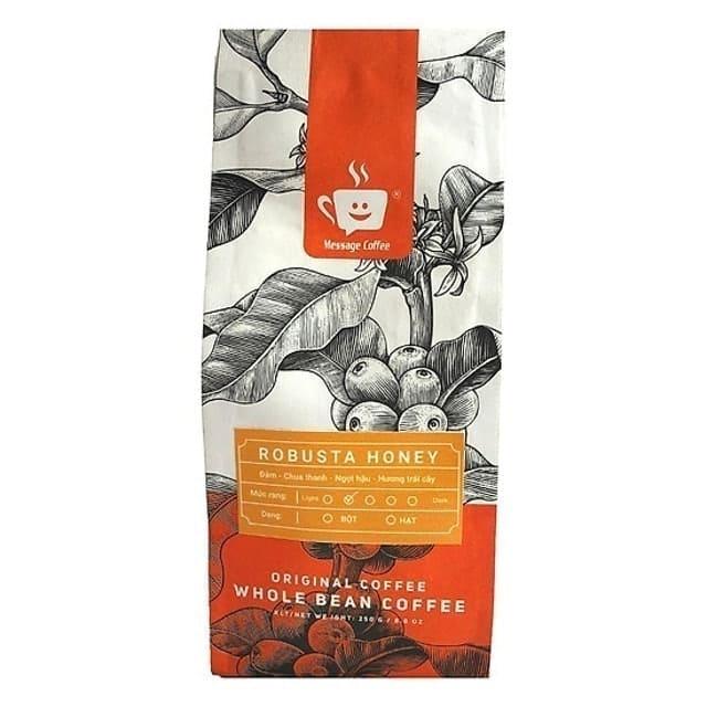 Message Coffee - Cà Phê Rang Xay Robusta Honey
