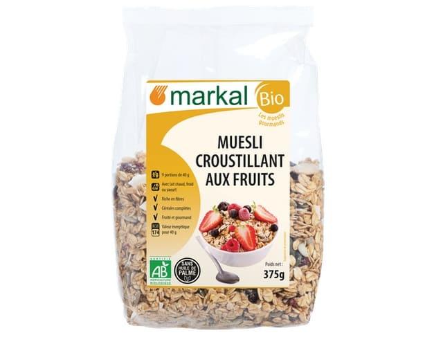 Markal - Ngũ Cốc Giòn Trái Cây Hữu Cơ Muesli Crunchy 375g