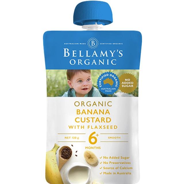 Bellamy's Organic - Hỗn Hợp Kem Sữa Chuối và Hạt Lanh