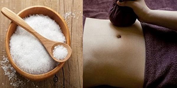 Massage bụng bằng muối
