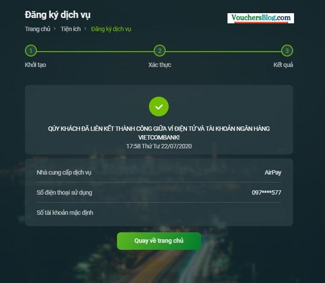 Hướng dẫn liên kết Ví ShopeePay với ngân hàng Vietcombank
