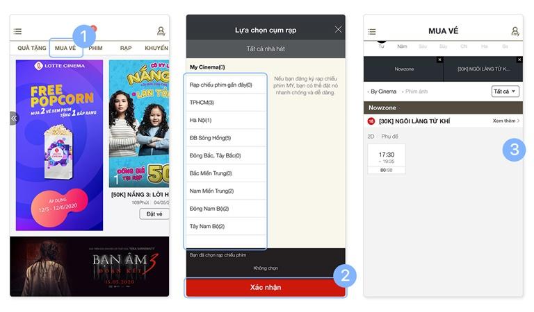 Hướng dẫn đặt vé xem phim trên ứng dụng Lotte và thanh toán qua ví điện tử shopeepay