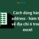 Cách Dùng Hàm Address - Hàm Trả Về Địa Chỉ Ô Trong Excel