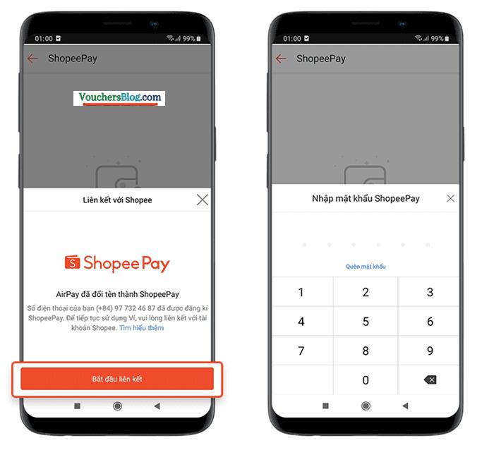 Các bước kích hoạt và liên kết ví ShopeePay với Shopee