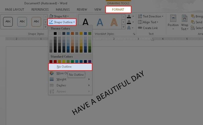 Cách xoay chữ trong Word bằng tính năng Text Box