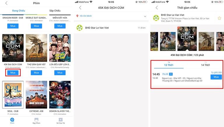 Hướng dẫn các bước đặt vé xem phim rạp BHD trên ứng dụng ShopeePay
