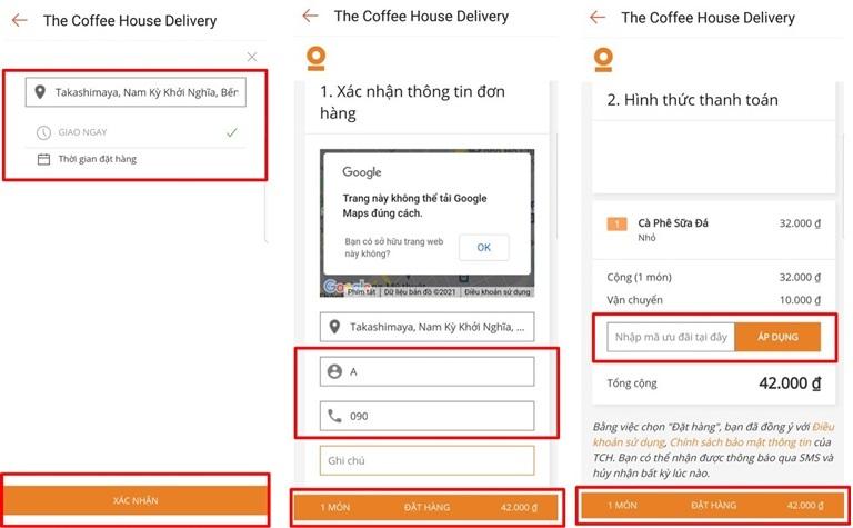 Hướng dẫn khách hàng cách thanh toán The Coffee House