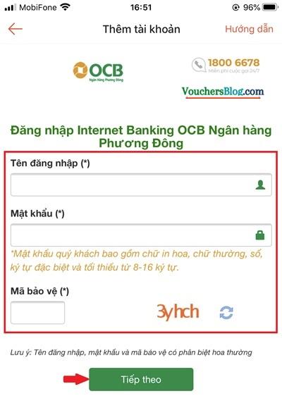 Hướng dẫn liên kết Ví ShopeePay với tài khoản ngân hàng OCB