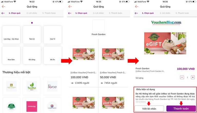 Hướng dẫn mua quà tặng UrBox và thanh toán qua Ví ShopeePay