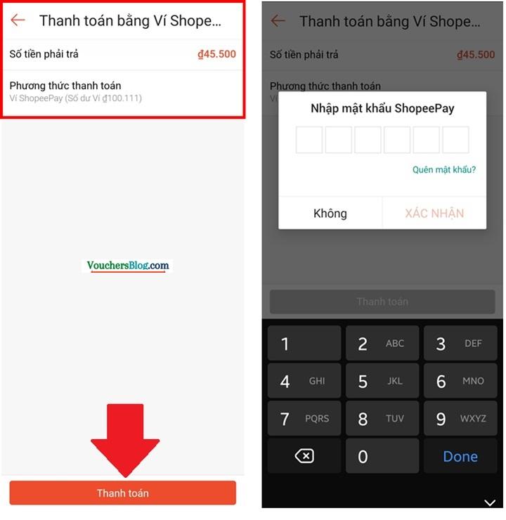 Hướng dẫn thanh toán đơn hàng Shopee bằng Ví ShopeePay (trên ứng dụng Shopee)
