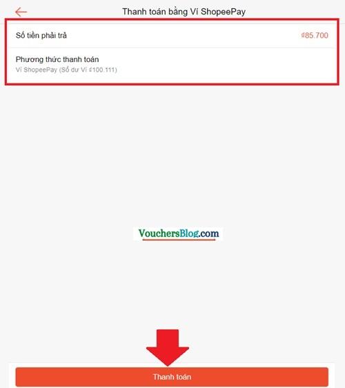 Hướng dẫn thanh toán đơn hàng Shopee bằng Ví ShopeePay (trên website Shopee.vn)