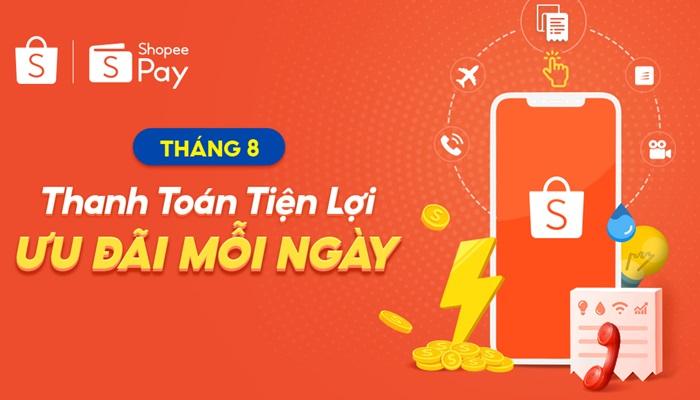 Mã Shopee Nạp Tiền Điện Thoại Thanh Toán Qua Ví shopeepay.vn
