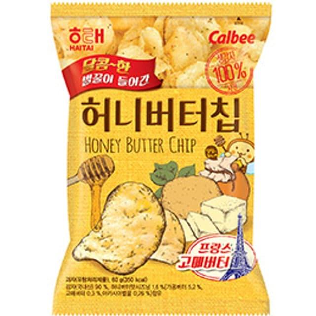 Haitai & Calbee - Snack Khoai Tây Bơ Mật Ong