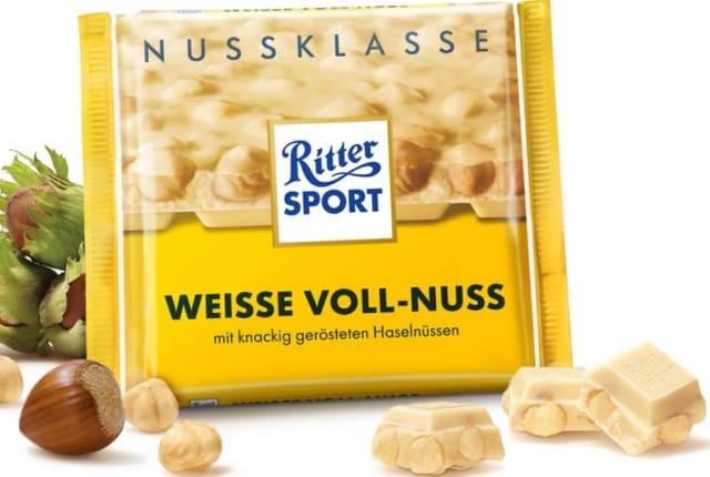Ritter Sport - Sô Cô La Trắng Hạt Phỉ và Corn Flakes White + Crisp, Weisse Voll-Nuss