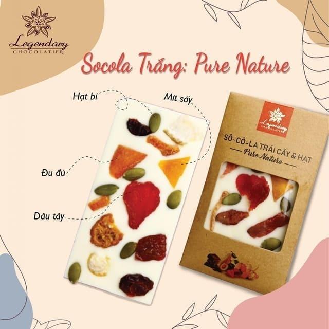 Legendary Chocolatier - Sô Cô La Trắng Trái Cây Và Hạt Pure Nature