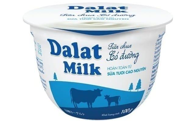 Sữa Chua Ăn Dalatmilk Có Đường