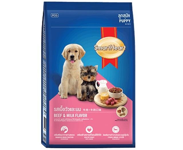 PCG - Thức Ăn cho Chó Con SmartHeart Hương Thịt Bò và Sữa