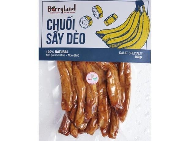 Đà Lạt Fresh - Chuối Laba Sấy Dẻo Berryland