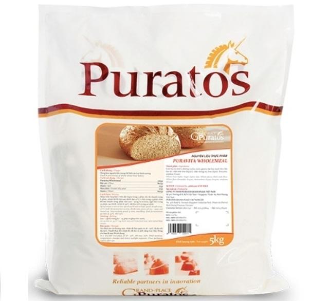 Puratos Grand Palace - Bột Trộn Bánh Mì Nguyên Cám Puravita Wholemeal IM-EAW-03