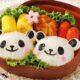 Hộp cơm Bento đáng yêu hình con gấu cho các bé mang đi học