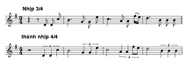 Một số nhịp cơ bản trong bài hát hiện nay