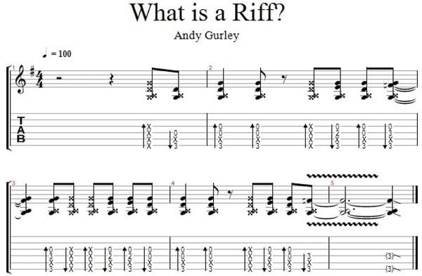 Tìm hiểu Riff trong Guitar