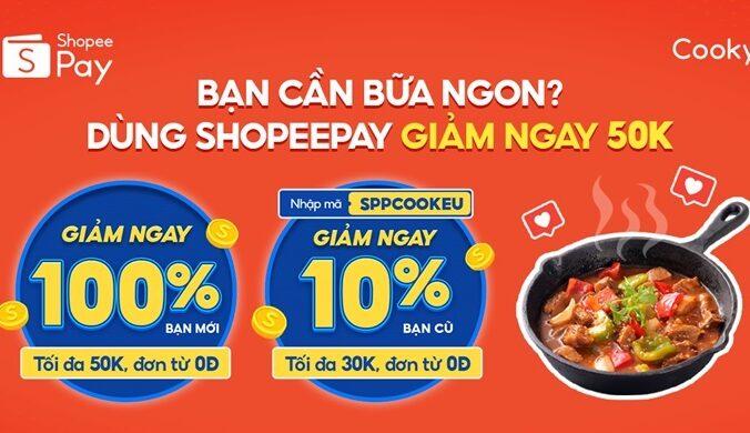 Voucher Giảm Giá Cooky.vn Thanh Toán Ví Shopeepay