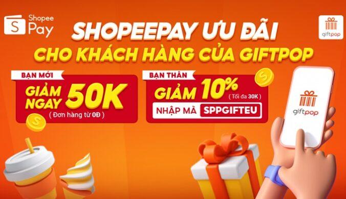 Voucher giảm giá Giftpop.vn Thanh Toán Shopeepay